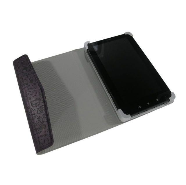 """WPOWER 7"""" Műbőr, nyomott mintás tablet tok, lila"""