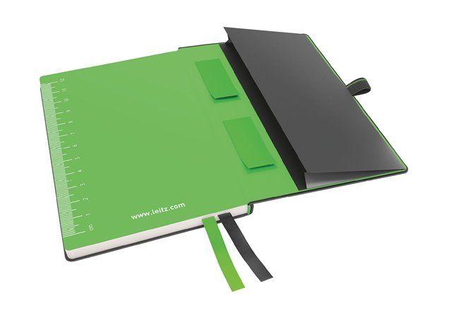 """LEITZ Jegyzetfüzet, exkluzív, A6, kockás, 80 lap, keményfedeles, LEITZ """"Complete"""", fekete"""