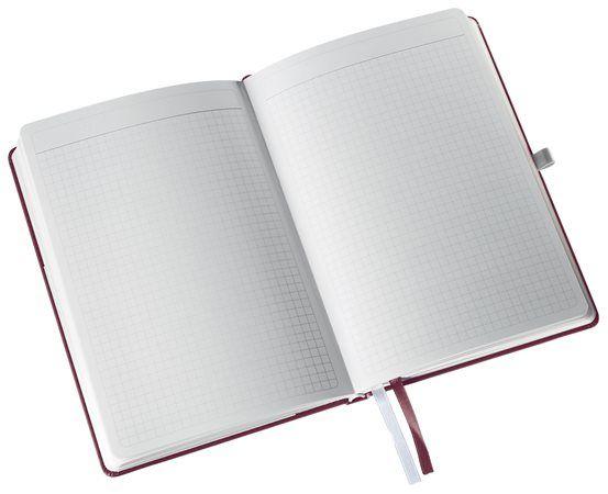 """LEITZ Jegyzetfüzet, A5, kockás, 80 lap, keményfedeles, LEITZ """"Style"""", gránátvörös"""
