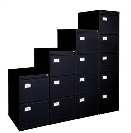 VICTORIA Függőmappatároló fémszekrény, 3 fiókos, VICTORIA, fekete