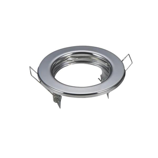 LED spot lámpa beépítő keret TS53 króm színű GU10 és MR16-os LED izzókhoz