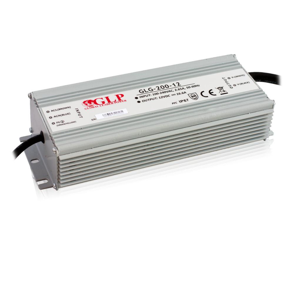 Led tápegység GLG-200-12 199.2W 12V 16.6A IP67