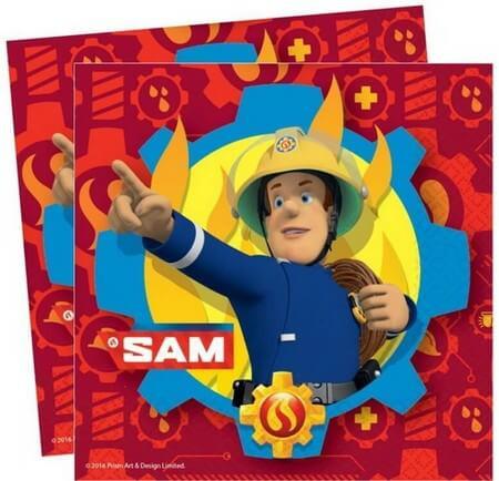 Sam a tűzoltó, Fireman Sam szalvéta 20 db-os