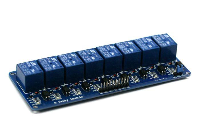 8 csatornás optocsatolós relémodul Raspberry PI-hez