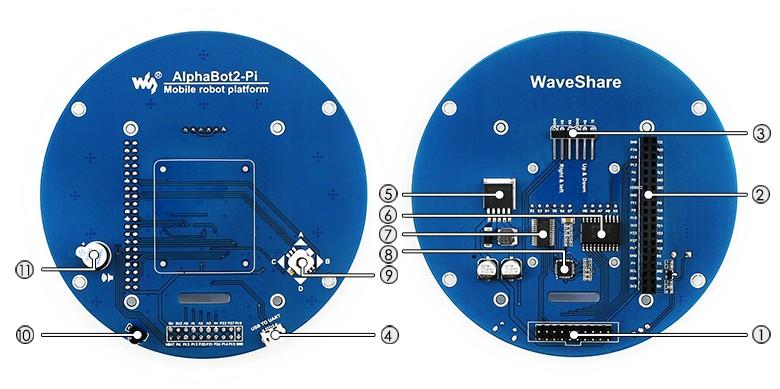 AlphaBot2 robotépítő kit Raspberry Pi 3 Model B-hez