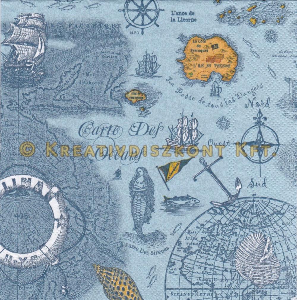 Szalvéták , Tengerpartok és kagylók , Óceán