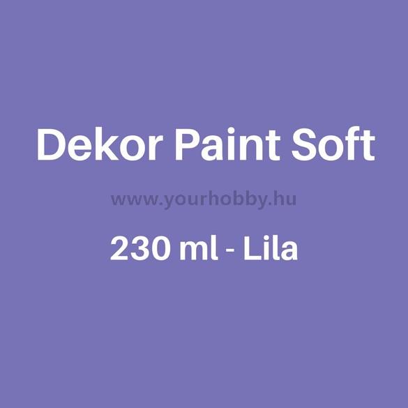 Pentart Dekor Paint Soft lágy dekorfesték 230 ml - lila