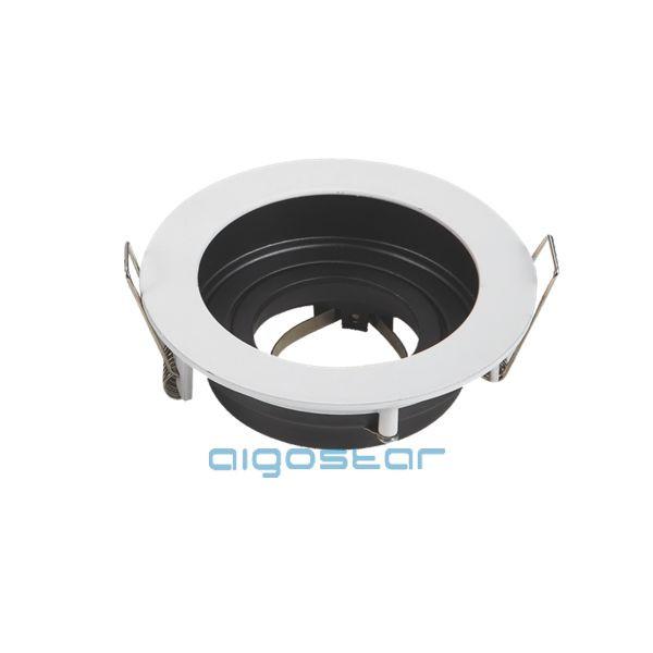 LED spot lámpa beépítő keret kerek TS71 Fehér GU10 és MR16-os LED izzókhoz