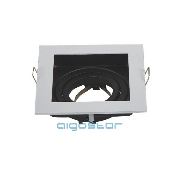LED spot lámpa beépítő keret szögletes TS71S  fehér GU10 és MR16-os LED izzókhoz