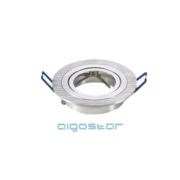 LED spot lámpa beépítő keret kerek M1030R-01 ezüst GU10 és MR16-os LED izzókhoz