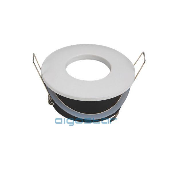 LED spot lámpa beépítő keret kerek TS75 fehér GU10 és MR16-os LED izzókhoz