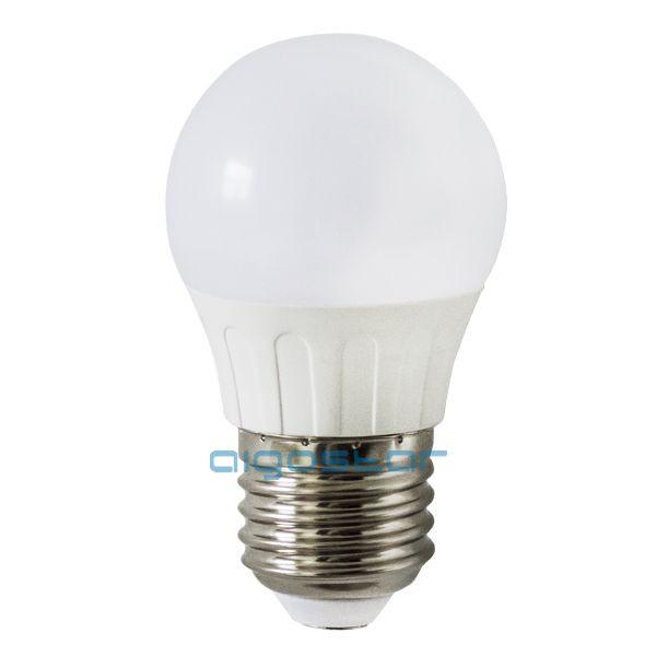 LED izzó G45 E27 4W 180° hideg fehér