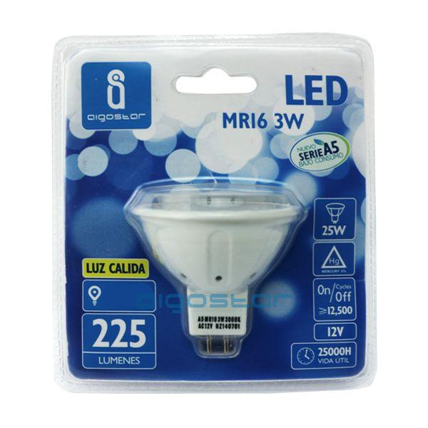 LED izzó MR16 3W meleg fehér