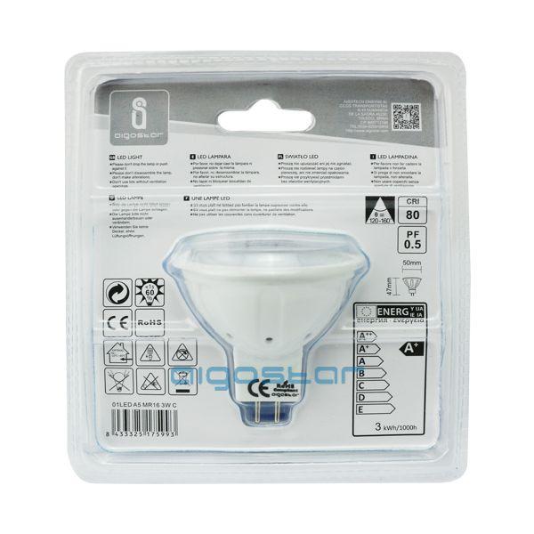 LED izzó MR16 4W hideg fehér