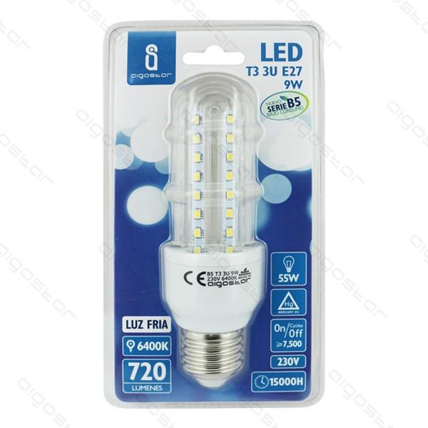 Kukorica LED izzó 9W E27  meleg fehér