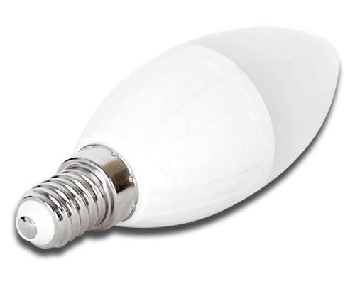 LED izzó C37 E14 6W 270° meleg fehér