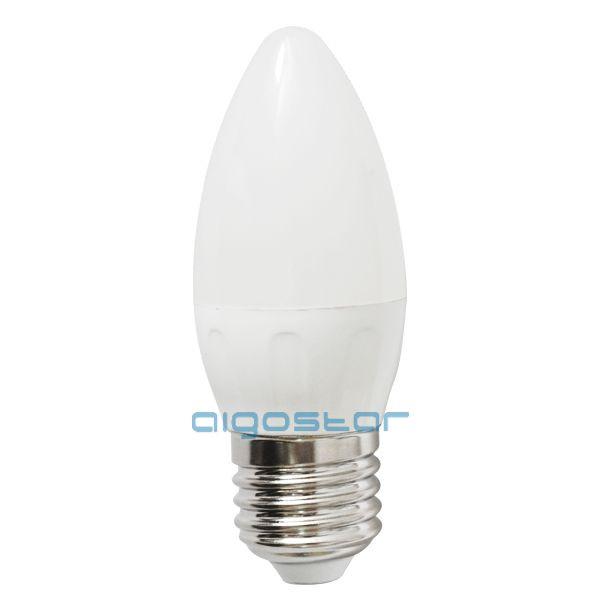LED izzó C37 E27 6W 270° hideg fehér