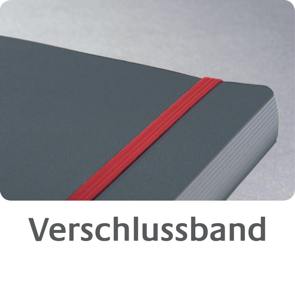 Avery Zweckform Notizio No. 7028 vonalas kötött füzet A4-es méretben, sötétszürke színű keményfedeles borítóval (Avery 7028)