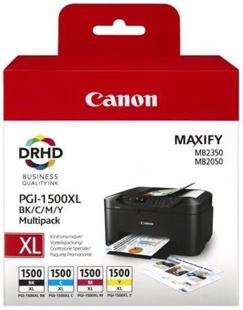 Canon PGI-1500XL Multipack - 1 darab black, cyan, magenta, yellow tintapatron egy csomagban (Canon PGI-1500XL Multipack)