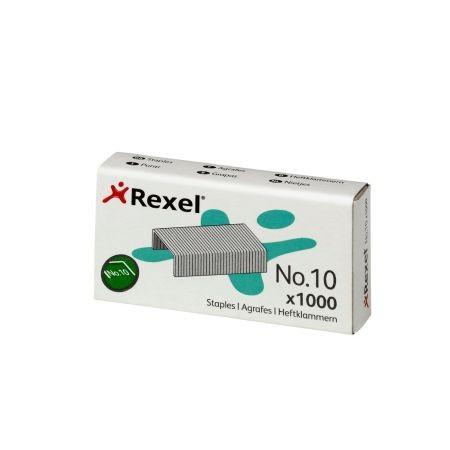 Rexel No. 10 tűzőkapocs - kiszerelés: 1000 darab tűzőkapocs / doboz (Rexel 06150)