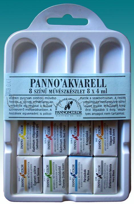 Akvarellfesték készlet - Pannoncolor Szilkés művészfesték műanyag dobozban - KÜLÖNBÖZŐ KISZERELÉSEKBEN