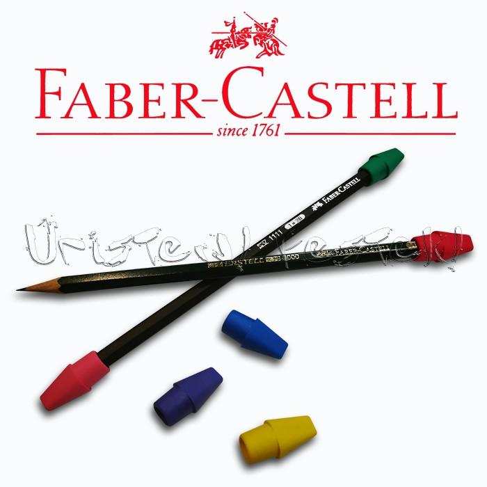 Kupakradír - Faber-Castell Eraser Cap PVC-FREE - 6db/csomag