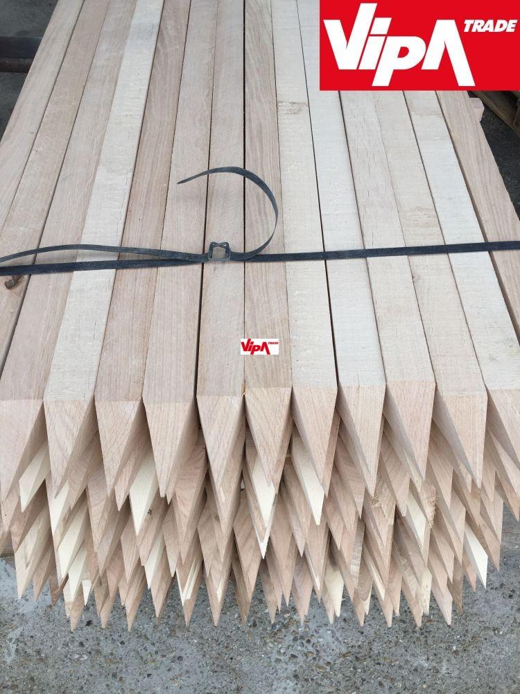 Paradicsom karó 3 X 3 X 210 cm    Keményfa    (Va) X  (Sz)  X  (Ho)
