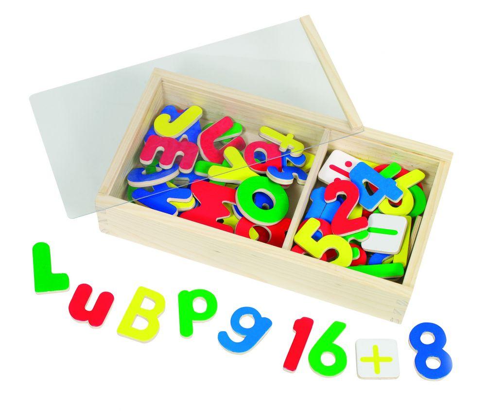 Mágneses fa betűk és számok