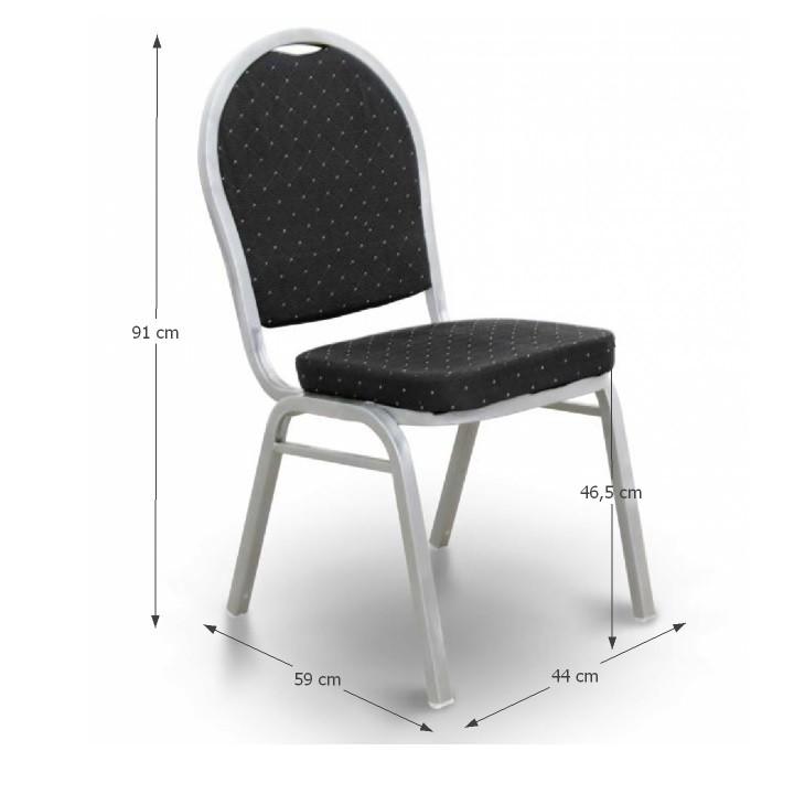 JEFF Egymásra rakható szék FEKETE