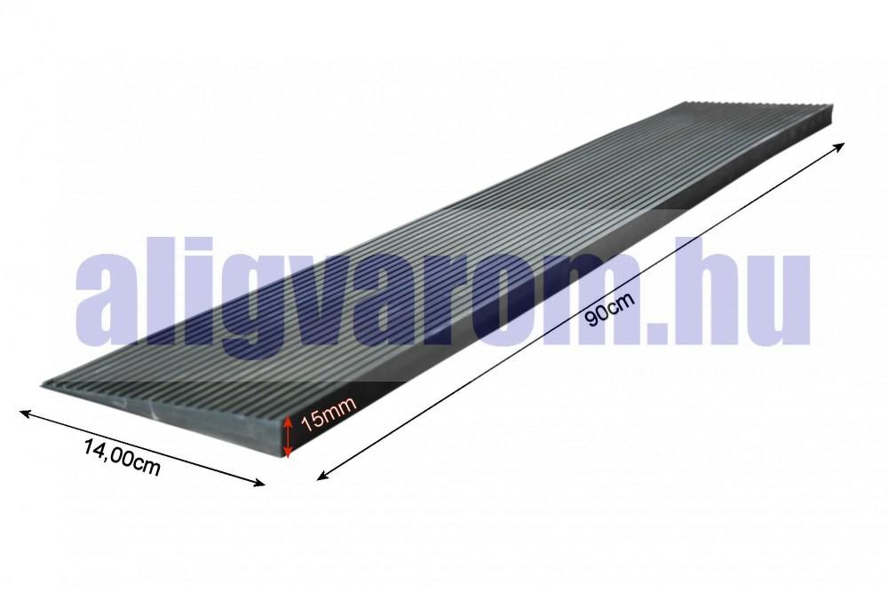 Küszöbáthidaló rámpa 15x140x900 mm Lefektethető gumi küszöb átvezető