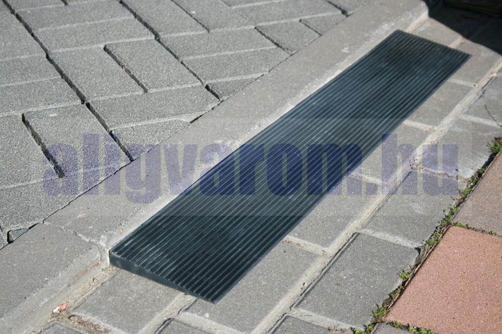 Küszöbáthidaló rámpa 30x200x900 mm Lefektethető gumi küszöb átvezető Teherbírás: 2 tonna