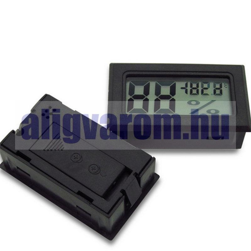 Páratartalom érzékelő és hőmérő kábel nélküli, beépíthető, digitális légnedvesség és hőmérő, a pára érzékelő szonda előtt hőmérséklet érzékelővel