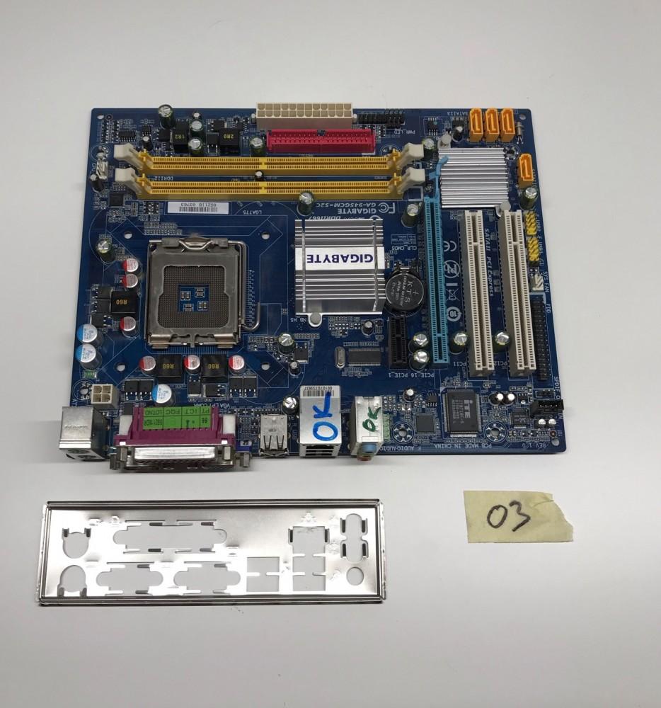 Gigabyte GA-945GCM-S2C  LGA775 használt alaplap PCI-e SATA integrált veideokártya