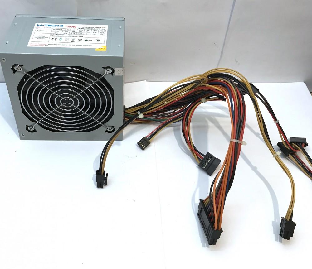 M-Tech 500W számítógép ATX tápegység MT-AP4500XA Mercury 20+4pin ATX 2xSATA 6pin VGA 12cm
