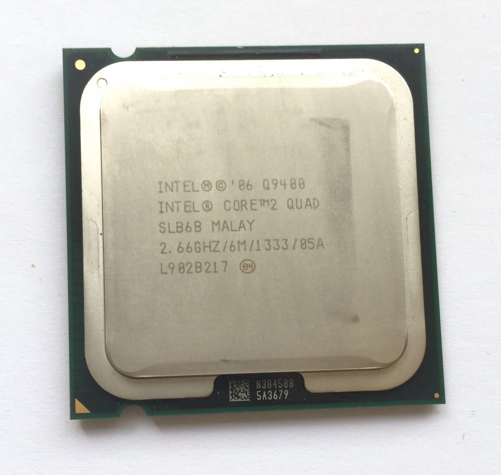 Intel Core 2 quad Q9400 4 magos 2.66Ghz Processzor 1 év GARANCIA LGA775 1333Mhz FSB 6Mb L2 SLB6B
