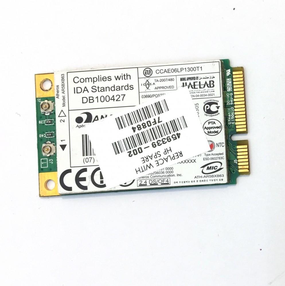 Atheros AR5BXB63 mini PCI-e Wifi WLAN kártya adapter 802.11b/g459339-002