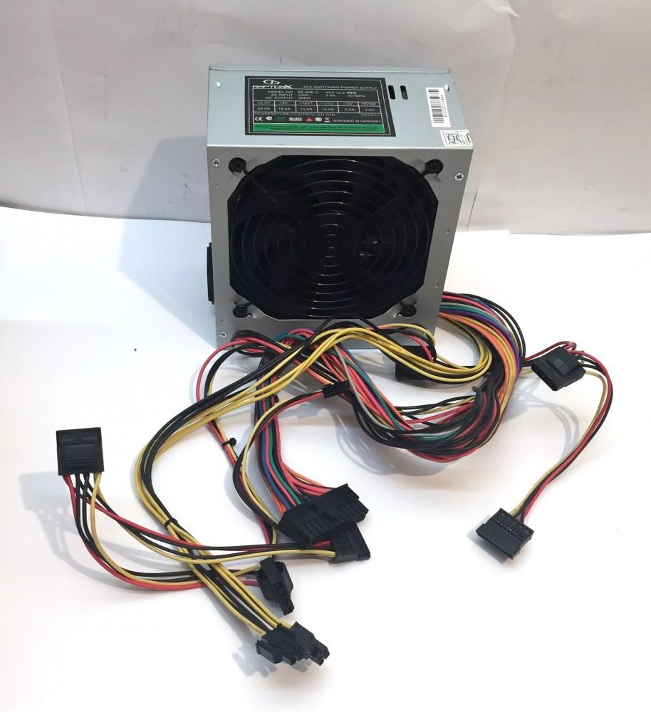 Raptoxx 500W RT-500 C használt tápegység PC TÁP 12cm