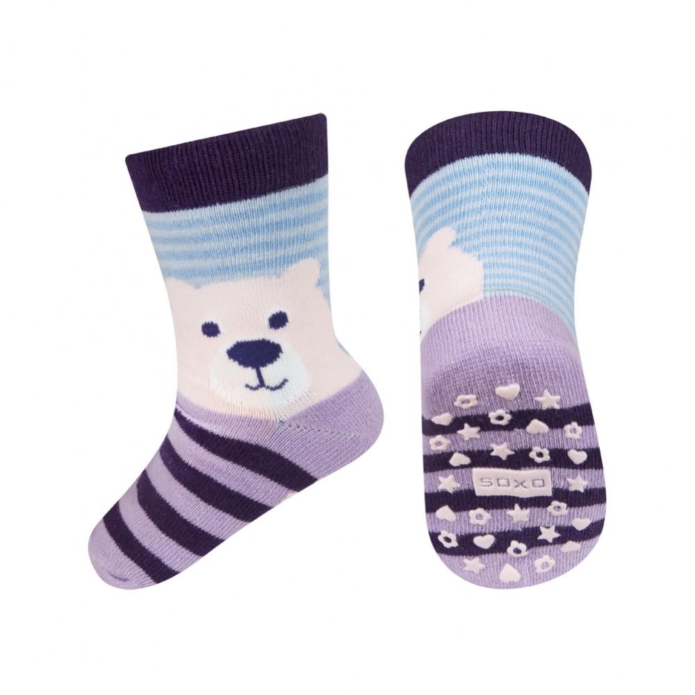 SOXO Mackós baba zokni csúszásgátlós talppal 19-21