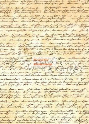 Transzparens papír - Antik- Barna Kézírás