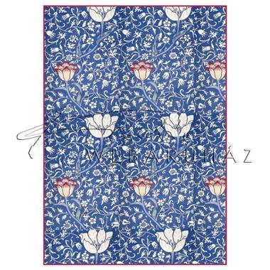 Dekupázs rizspapír A4 - Kék arabeszk virágokkal