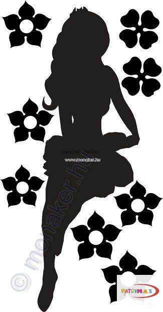 Fekete falmatrica - Női alak #6