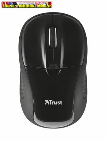 TRUST Primo fekete,Egér, vezeték nélküli, optikai, USB, 20322