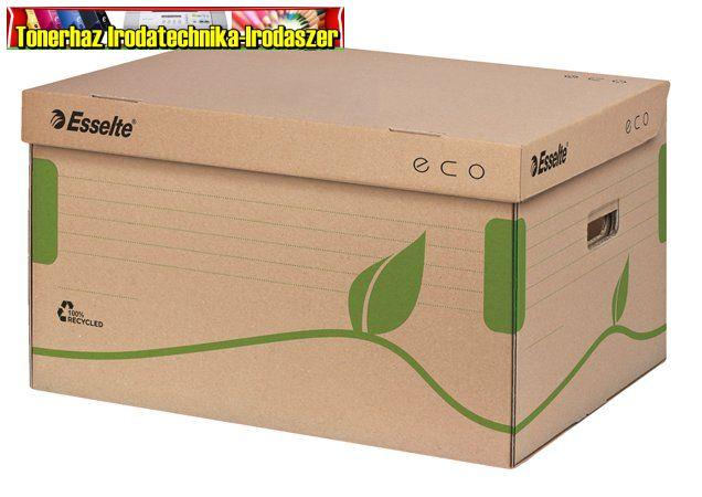 ESSELTE Eco Archiváló konténer, újrahasznosított karton, felfelé nyíló, barna 623918