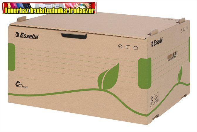 ESSELTE Eco Archiváló konténer, újrahasznosított karton, előre nyíló,  barna 623919