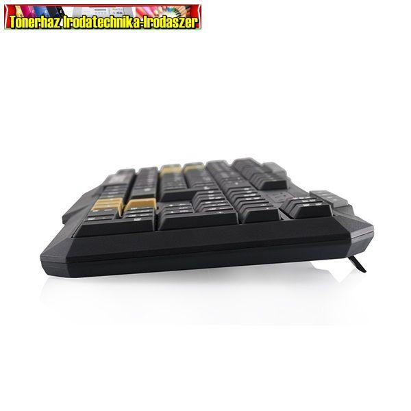 Logic Billentyűzet Gamer - LK-21 (Gamer design; USB; fekete-vörös; angol)