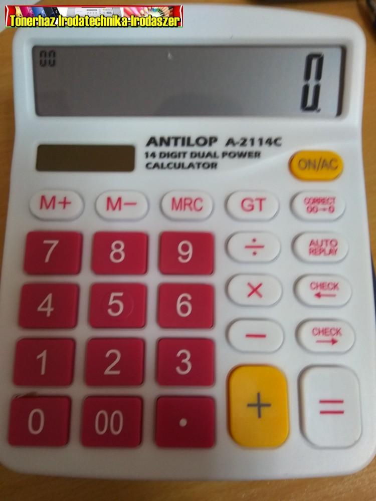 Antilop_A2114C_14_digit_asztali_szamologep_naranc