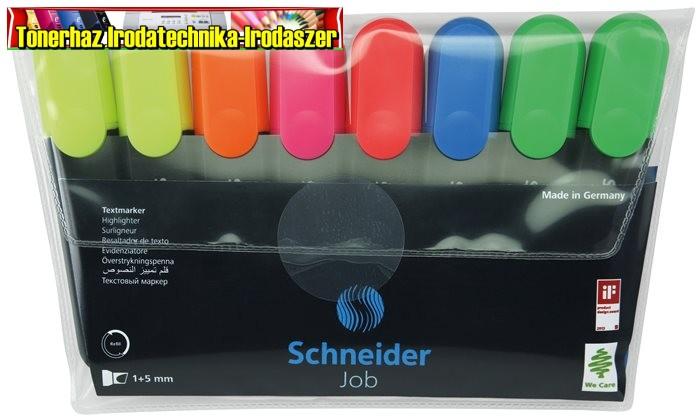 SCHNEIDER Job 150 Szövegkiemelő készlet, 1-5 mm,  8 szín/készlet