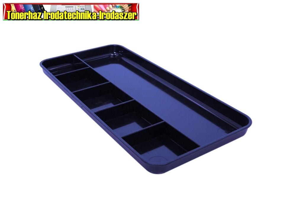 Írószertartó-68780154- fekvő 6részes 250x120x16mm kék PEN TRAY