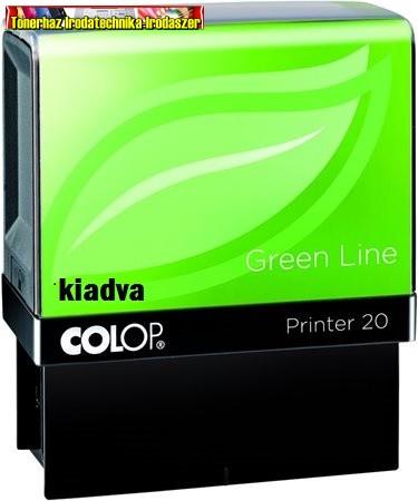 COLOP Printer IQ 20/L Green Line, Kiadva felírat