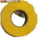 Árazószalag 22x12mm c.sárga